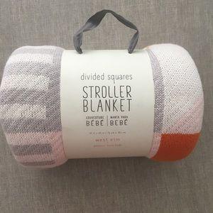 Pottery Barn stroller blanket brand new